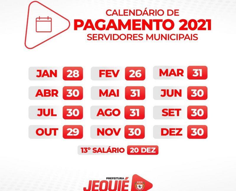 Prefeito Zé Cocá divulga calendário de pagamento dos servidores municipais